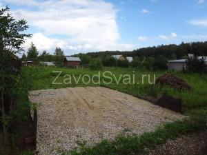 Участок в Подмосковье, Раменский район, планируется построить каркасный дом на винтовых сваях.