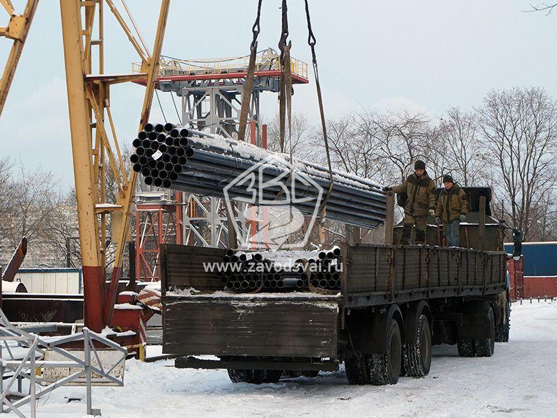 Для изготовления винтовых свай используются новые ГОСТовские трубы Королевского трубного завода