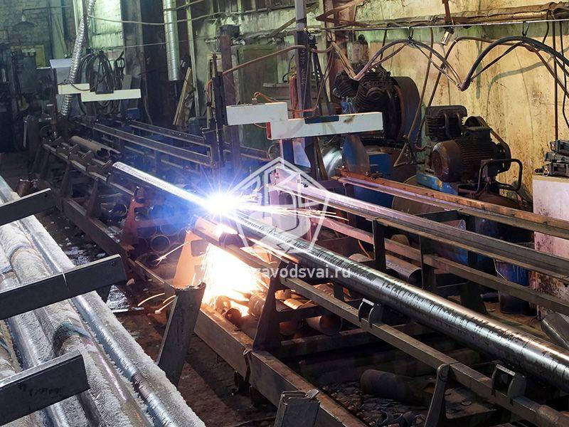 Резка труб для винтовых свай выполняется на  профессиональном станке плазменной резки